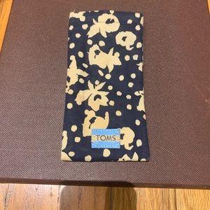 Tom's - floral, soft glasses case